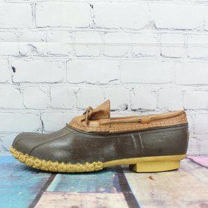 LL BEAN Mens Gumshoe Rubber Mocs Boot Size 9 M